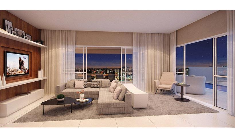 Splendor Ipiranga – Living duplex de 330 m²
