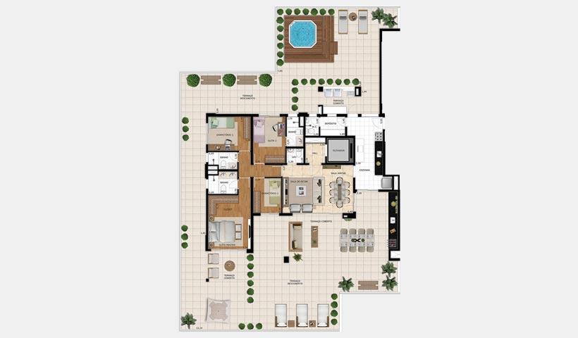 Splendor Vila Mariana – Planta garden 351 m²