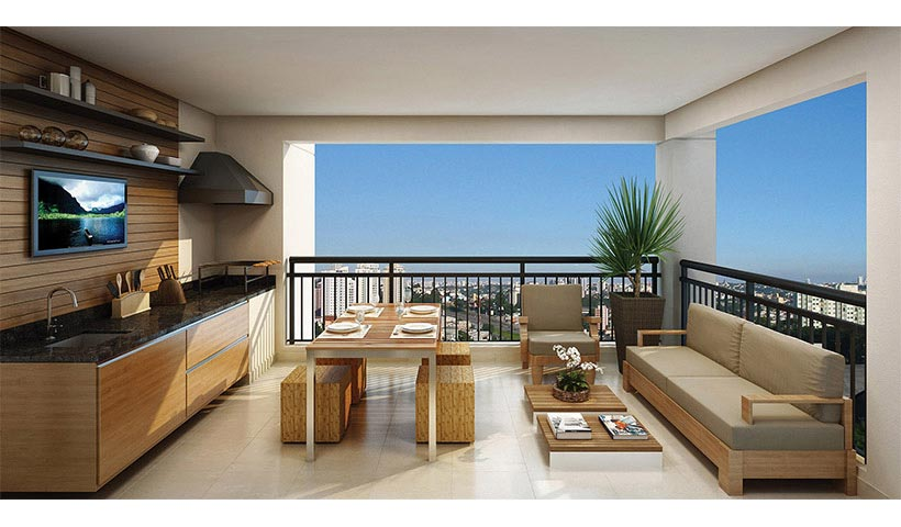 The View – Terraço de 82 m²