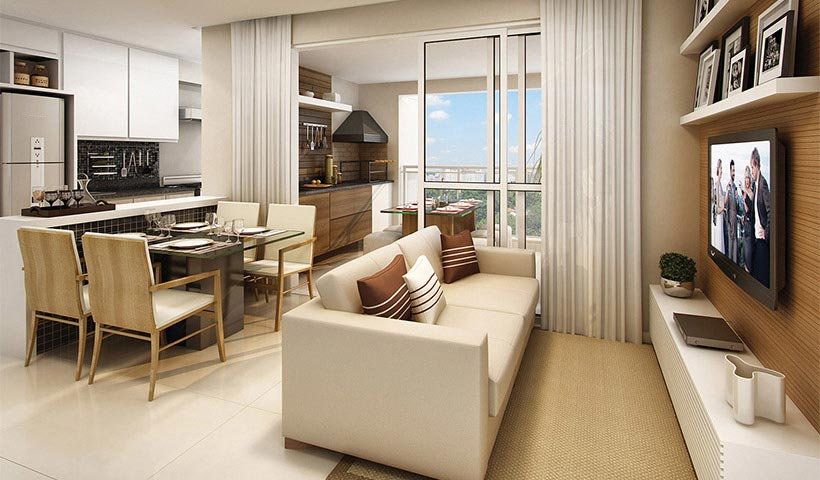 Up Home Santana – Living de 72 m²