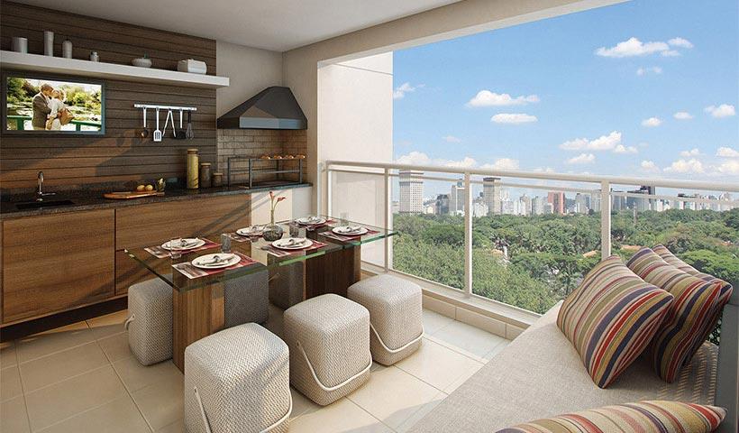 Up Home Santana – Terraço gourmet de 72 m²