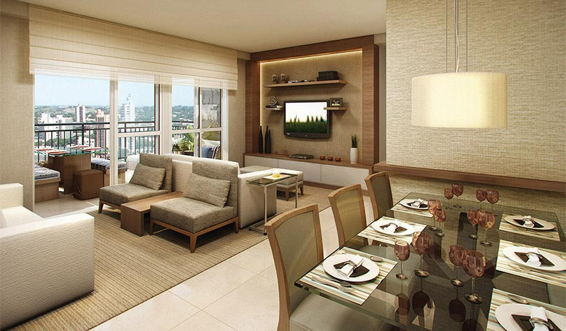 Up Home Vila Carrão – Living de 86 m²