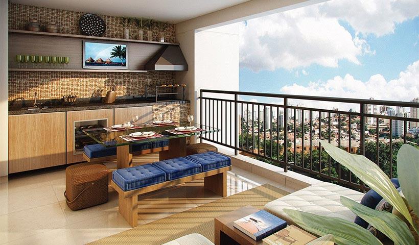 Up Home Vila Carrão – Terraço de 86 m²