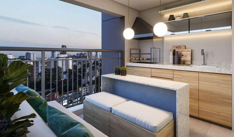 Vero Ipiranga – perspectiva ilustrada do terraço do apto. de 62 m² privativos com sugestão de decoração - final 3