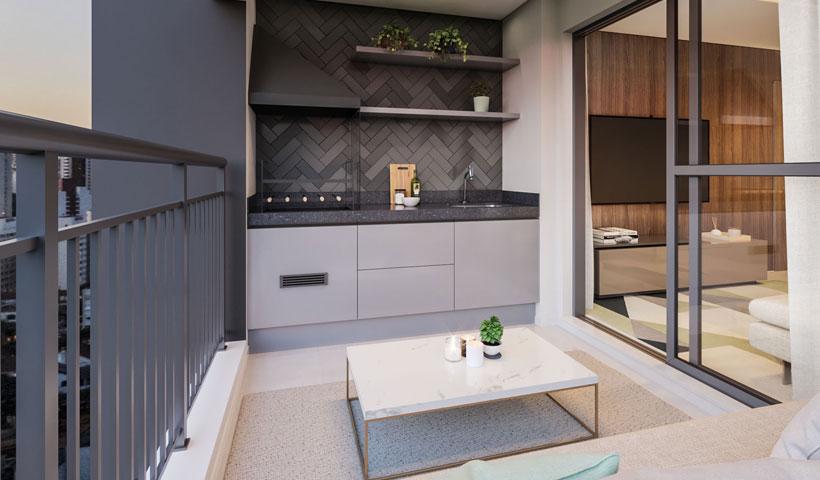 Vero Ipiranga – perspectiva ilustrada do terraço do apto. de 62 m² privativos com sugestão de decoração - final 5
