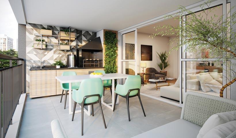 Vértiz Vila Mascote – Terraço do apto. de 100 m² - Final 2