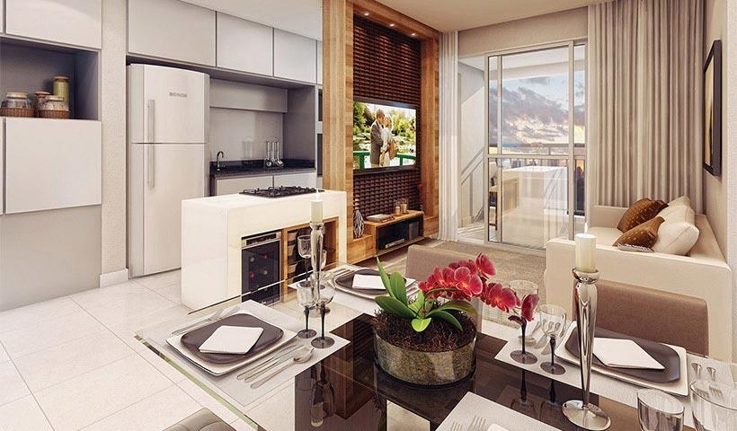Vivart – Living do apto. de 59 m²