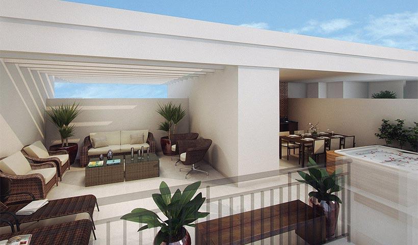 Vivart – Terraço do duplex de 116 m²