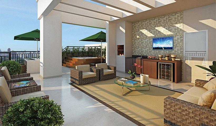 Vivart – Terraço do duplex de 152 m²